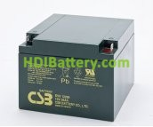 Batería para UPS-SAI 12v 26Ah plomo AGM EVX12260 CSB